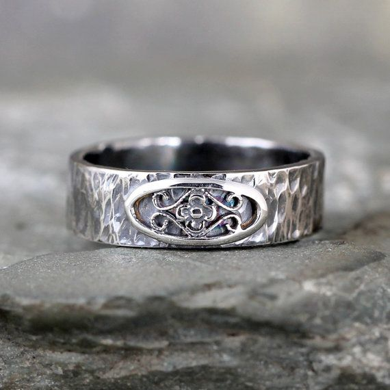Rustic Wedding Band - Men's or Ladies Wedding Ring - Rustic Wedding Ring - Friendship Rings - Commitment Bands - Mid Century Modern Inspired