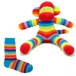 Animaux en chaussettes - Singe chaussette