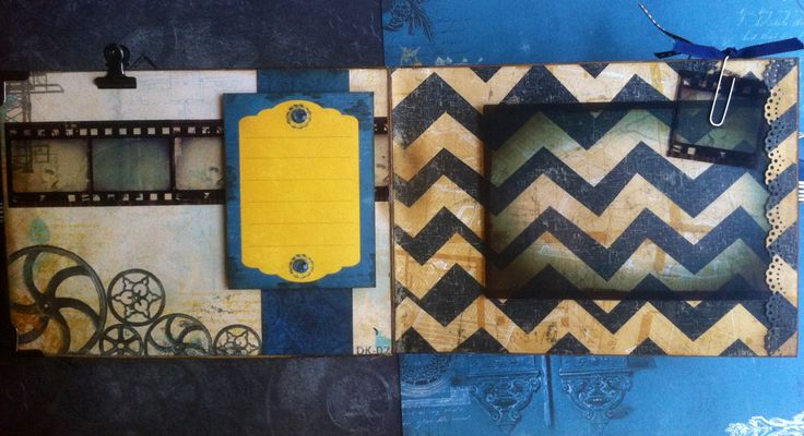 Scrapbooking: Vintage folding camera album--somewhere in time (film page)