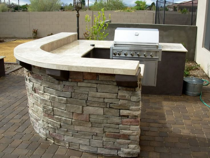 Attractive BBQ Coach Has Many Different Modules Available To Custom Design Your Own Outdoor  Kitchen. This Island Uses The Rounded Corner Module And Split Bar Counter  ...