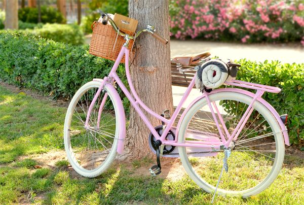 Classic pink bike - Bici rosa clásica