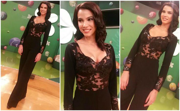 Irina wearing our black elegant jumpsuit Eden: https://missgrey.org/en/jumpsuits/black-elegant-jumpsuit-with-sequined-bust-eden/442?utm_campaign=decembrie&utm_medium=salopeta_eden&utm_source=pinterest_produs