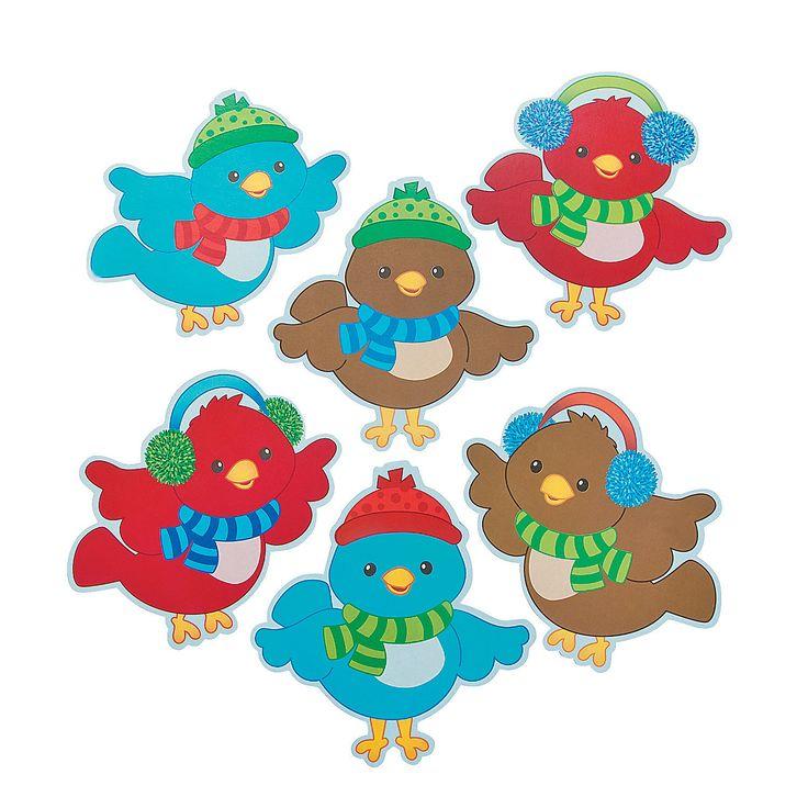 Christmas Bird Bulletin Board Cutouts - OrientalTrading.com