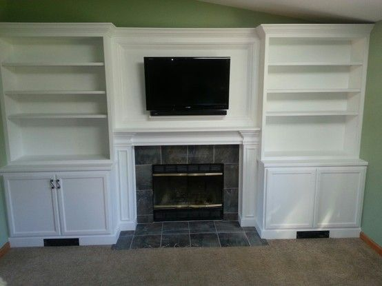 Best Images About Fireplace Bookshelves On Pinterest - Fireplace with bookshelves