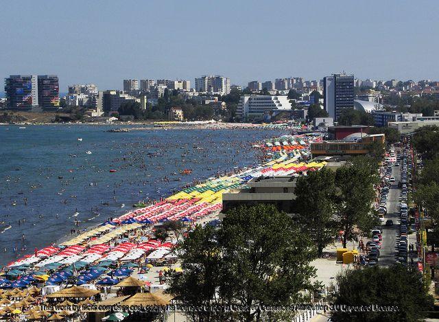 Mamaia beach , seaside in Romania.