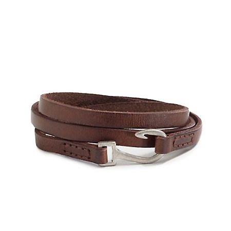#Leather Hook Wrap #Bracelet for Men #allMemoirs
