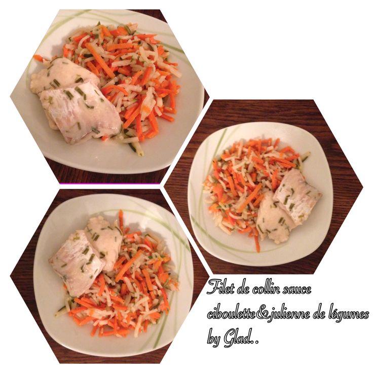 Julienne de légumes bio et filets de Collin