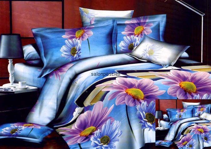 Pościel kolorystyka: błękit, fiolet