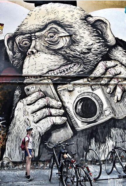 La Planète des singes... / Streetart. / Berlin. / Germany, Allemagne.