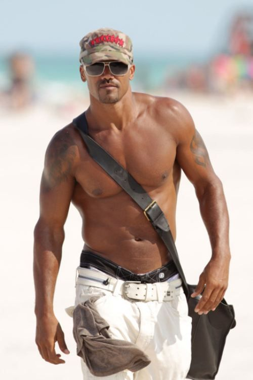I think that more than half of the people that watch Criminal Minds watch it because of Shemar.  I am going to pin another picture of him on my Celebs board and maybe on all the rest of the boards because there are so many good pictures of him. :)