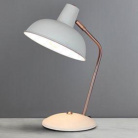 Elements Leiden Grey Desk Lamp