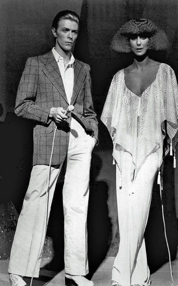 Beautiful Interesting People...David Bowie and Cher