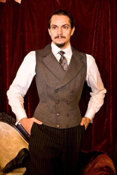 Beau Brummel custom double breasted waistcoat corset front.