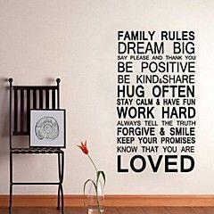 decorazione preventivo regola familiare parete della decalcomania della parete jiubai ™