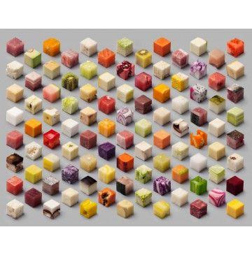 Blokjes onbewerkt voedsel - foto van Lernert & Sander