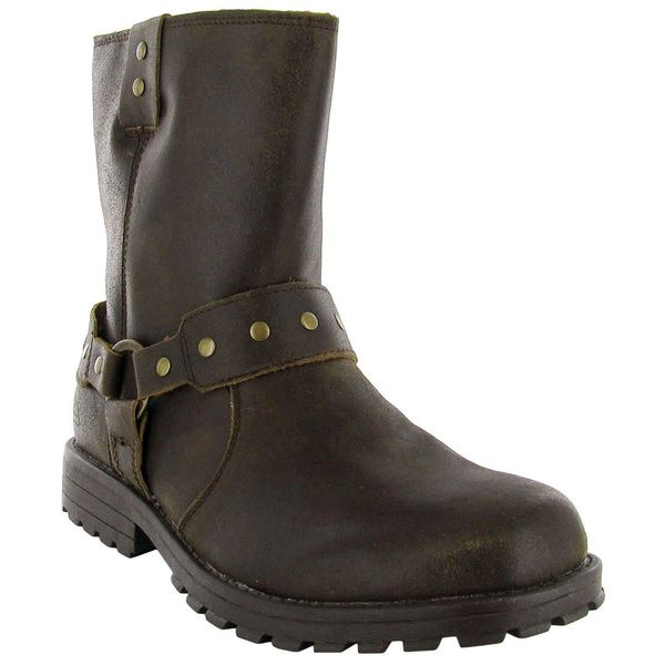 Skechers Men's 'Zenith-Igore' Brown Leather Zip-up Boots - Overstock™ Shopping - Great Deals on Skechers Boots