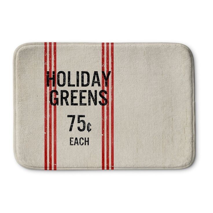 Kavka Designs Ivory/Red/ Holiday Greens Bath Mat