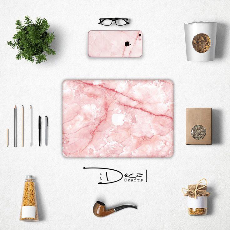 "Pink Marble iPhone case and skin decal sticker, Apple Macbook Air 11, Mac Air 13 & Mac Pro 13 Retina, Macbook 12"", Macbook Pro 15 Retina by idecalCrafts on Etsy"