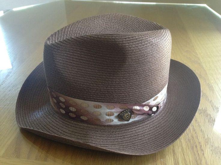Dobb's Men's Straw Summer Hat - DeSoto - Brown - Size 6 7/8 #Dobbs #FedoraTrilby