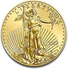 First introduced in 1986, the American Eagle gold coin is a leading gold bullion coin choice among investors across the world.     After careful consideration, the United States Mint decided to copy the design of the $20 Saint-Gaudens gold coin for the obverse (front) of its new American Eagle. The date, situated to the viewer's right of Miss Liberty, appears in Roman Numerals in the years from 1986-91 it has appeared in Arabic Numerals ever since....