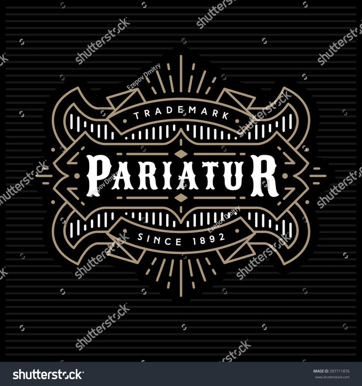 Stock Vector Monochrome Art Deco Luxury Antique Gold Cafe RestaurantAntique GoldMonochromeArt DecoRustic LogoBoutiqueLogosMonochrome