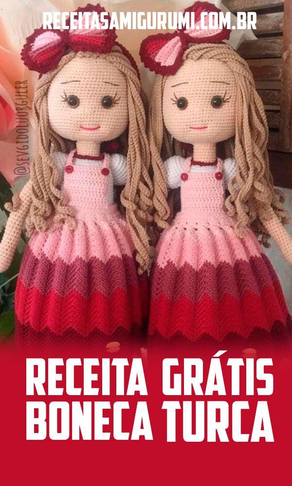 Resultado de imagem para receita de boneca de croche em amigurumi ... | 1000x600