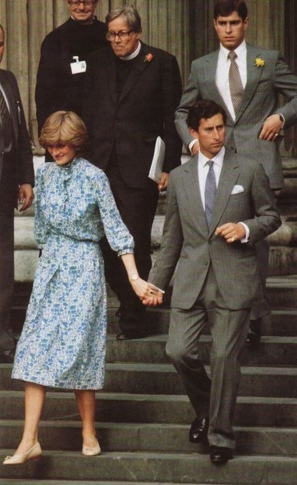 July Prince Charles His Fiancé Lady Diana Spencer Leaving Their Wedding Rehearsal At St