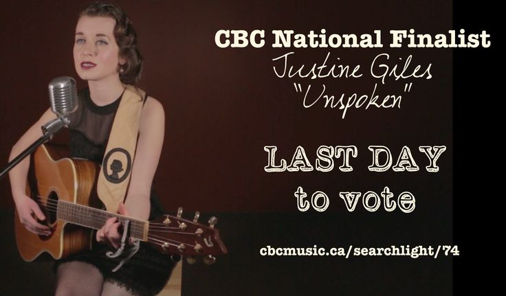 "Well folks, the day has finally come. This is your last day to vote for my song ""Unspoken"" in CBC's Searchlight. Voting ends TODAY at 3pm (EST). I cannot thank you enough for your undying support, especially over the past month. This has been an unreal journey. This isn't the end for me, but it also isn't really the beginning either.. it's a really, really beautiful step that could lead me anywhere, no matter the verdict. I want to thank you from the bottom of my heart for doing this WITH…"