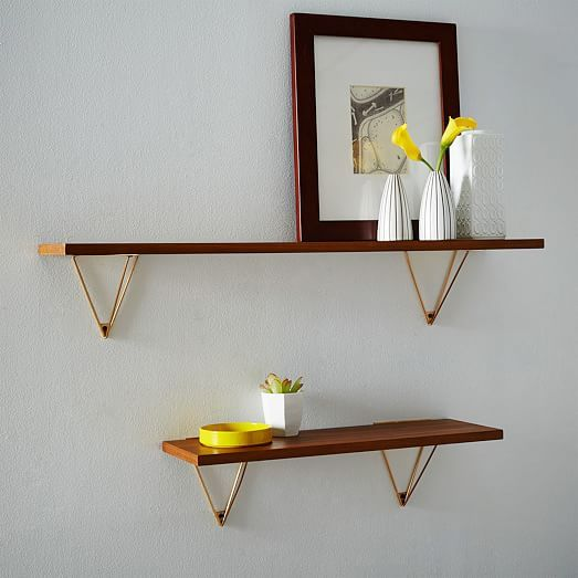 Mid-Century Shelving + Brackets | west elm