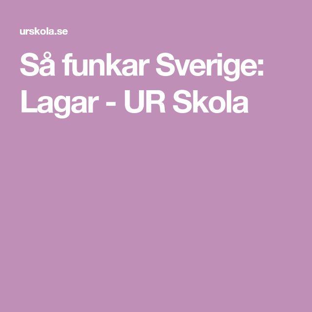 Så funkar Sverige: Lagar - UR Skola
