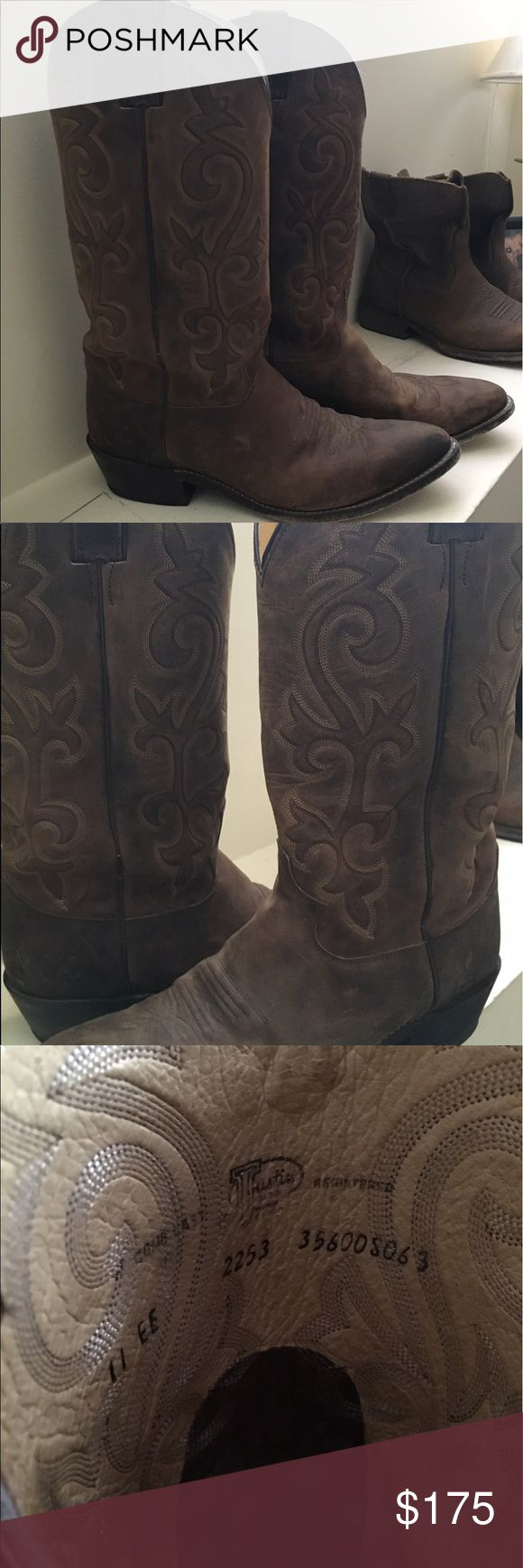 JUSTIN BUCK BAY APACHE BOOTS SZ: 11 EE Practically new JUSTIN BUCK BAY APACHE BOOTS size 11 EE. only worn for a couple of weddings. Bought for $202. Asking $175- perfect for the upcoming outdoor concert season! Don't miss out on this steal for you or your man! Justin Boots Shoes Boots