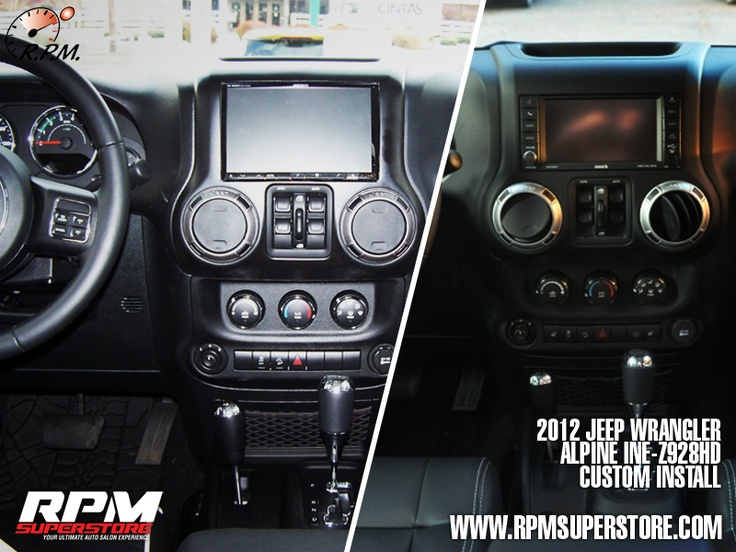 "Custom Jeep Wrangler >> 2012 Jeep Wrangler w/ 8"" Alpine in-dash DVD/ Navigation receiver custom install 