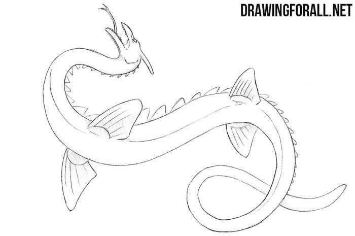 How To Draw A Sea Serpent Cartoon Sea Animals Sea Animals