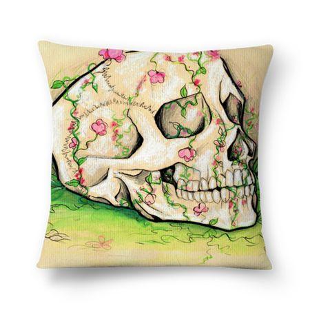 Caveira, almofada disponível na colab55.com/@lilianandretta ;)