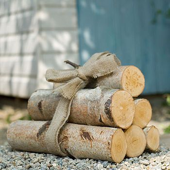 silver birch logs by useful and beautiful | notonthehighstreet.com
