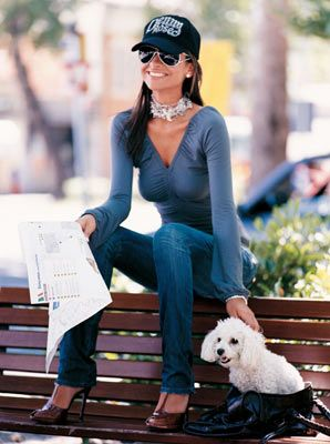 Love the jeans and shoes. FashionStyle: Denny Rose: Collezione Autunno Inverno 2006