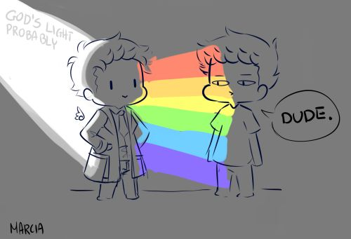 """""""All I'm getting from you is…colors."""" Dean got the colors long time ago pass it on"""