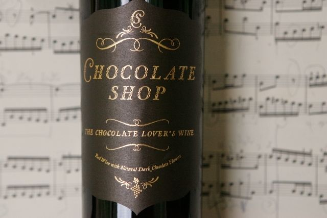 Chocolate Shop wine! a sweet chocolatey dessert wine.