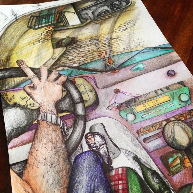 """Mi piace"": 20, commenti: 1 - Silvestri Anastasia (@anast_silvestri) su Instagram: ""#rock #virgin #virginradio #rebelrebel #davidbowie #art #illusion #illustration #anast #anastasia…"""