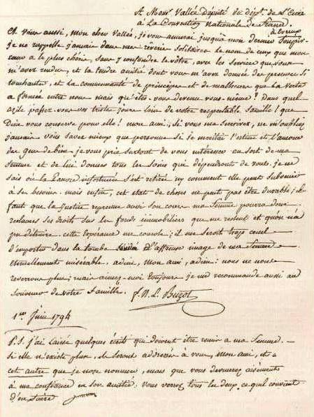 Письмо Франсуа Бюзо [изображение] — French Revolution