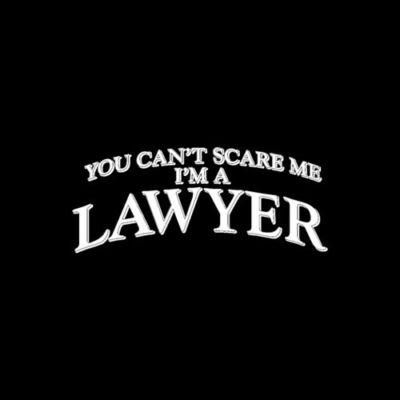 """""""You Can't Scare Me, I'm A Lawyer"""" t-shirt"""