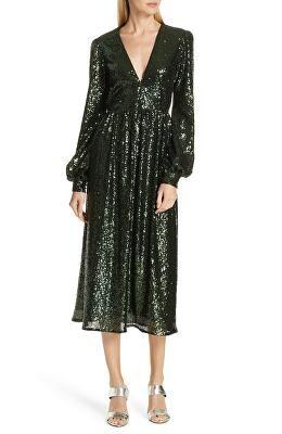 5795ab015b79 SALONI Designer Camille Sequin Midi Dress   Avivey (Style Lives Here ...