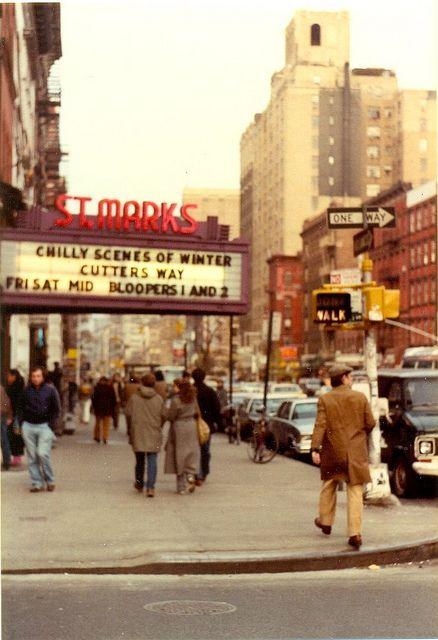 St. Marks Cinema, New York City (1982) by PaulWrightUK, via Flickr