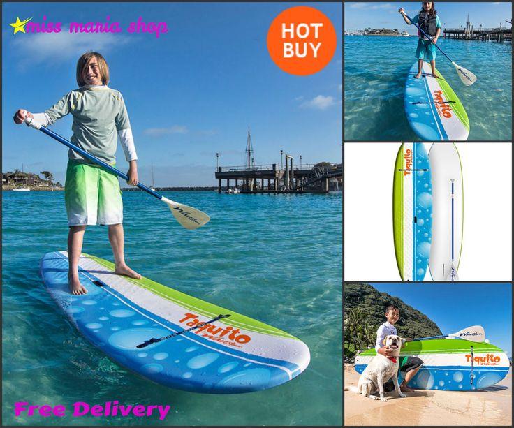 Stand Up Paddle Board Kids Surfing Adjustable Paddle Board Beginner Paddling 8ft