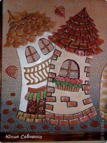 Картина панно рисунок Поделка изделие Лепка Роспись Картина из солёного теста Гуашь Тесто соленое фото 2