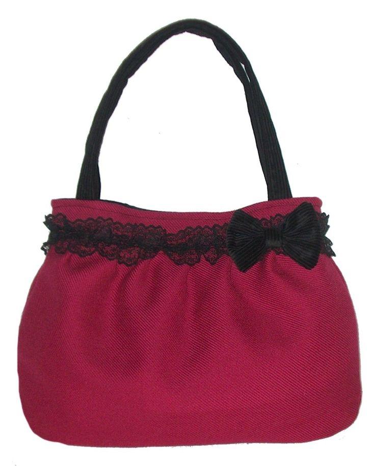 borsa donna a spalla artigianale color mirtillo Stile Vintage Rockabilly | eBay