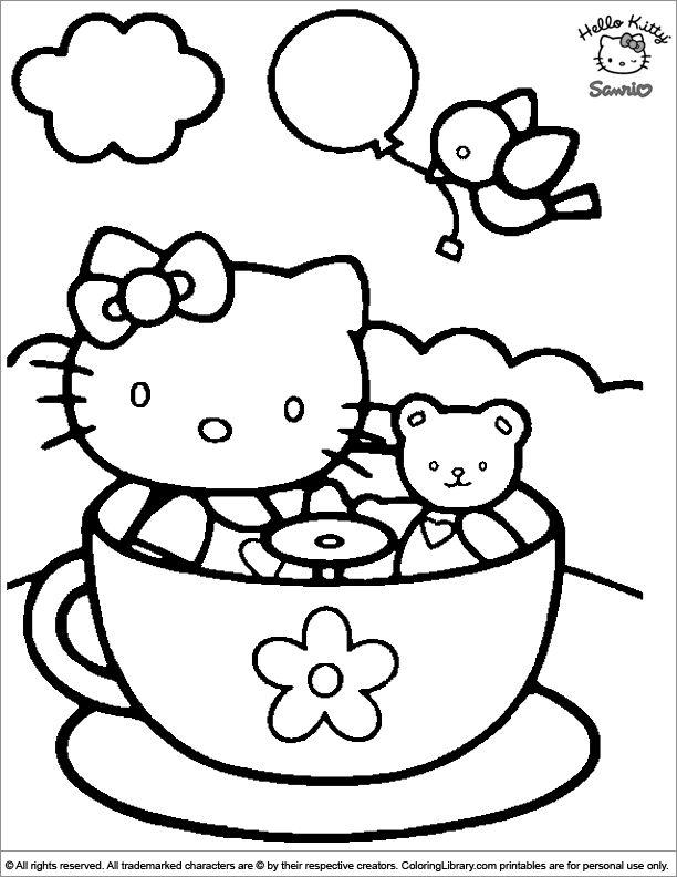 104 besten Hello Kitty! Bilder auf Pinterest | Malvorlagen ...