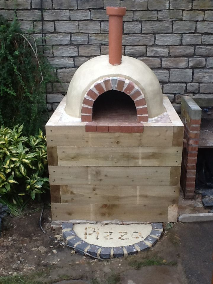 Wood burning brick pizza oven plans