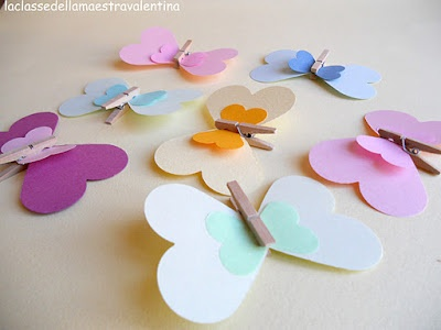 butterfly  farfalle di carta