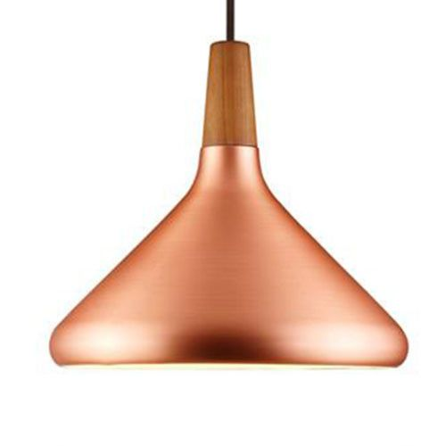 Mid Century Style Brushed Copper pendant Float by Nordlux